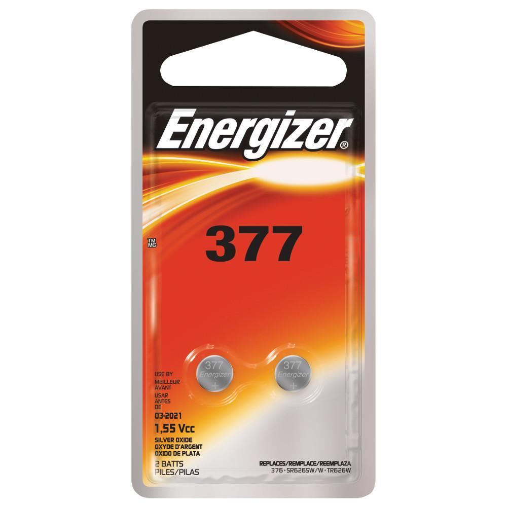 3a8d65e5e5 Energizer 377 2 PK Watch Electronic Battery-377BPZ-2 - The Home Depot