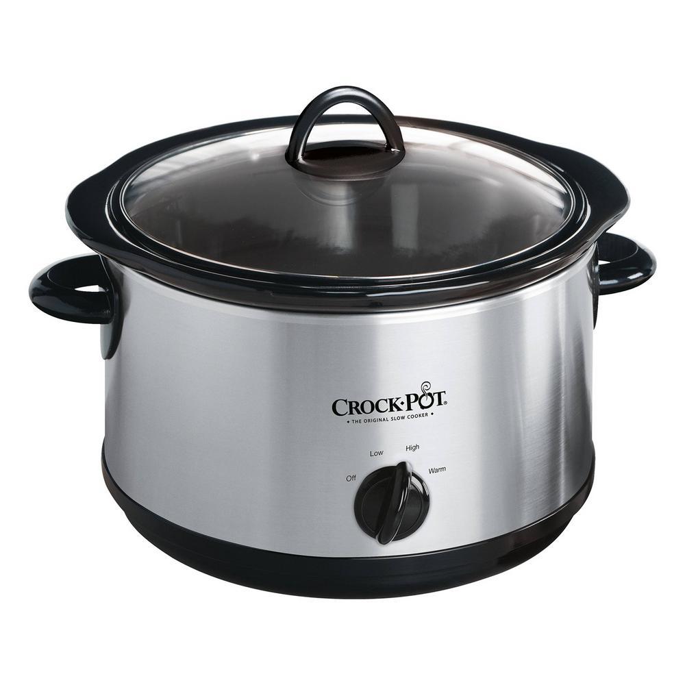4.5 Qt. Silver Manual Slow Cooker