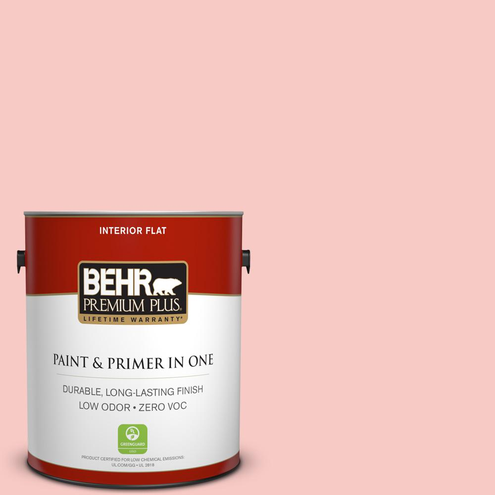 1 gal. #160C-2 Flush Pink Flat Zero VOC Interior Paint and