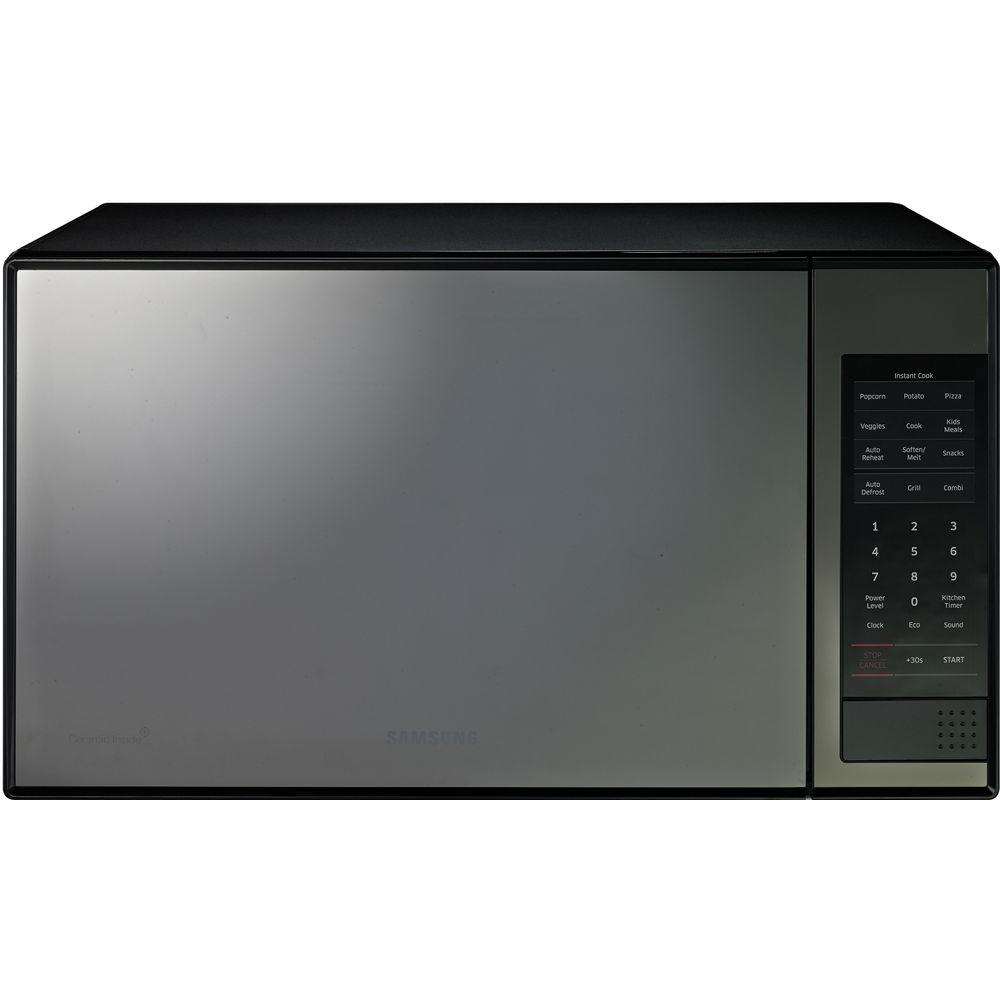 Samsung 14 cu ft Countertop Microwave in Stainless Steel with