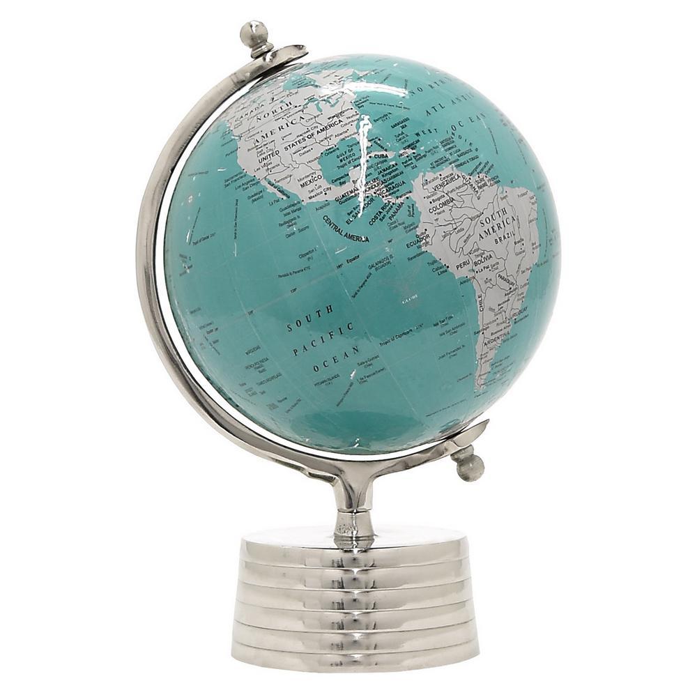 15.5 in. Blue Globe 12 in. Nickel