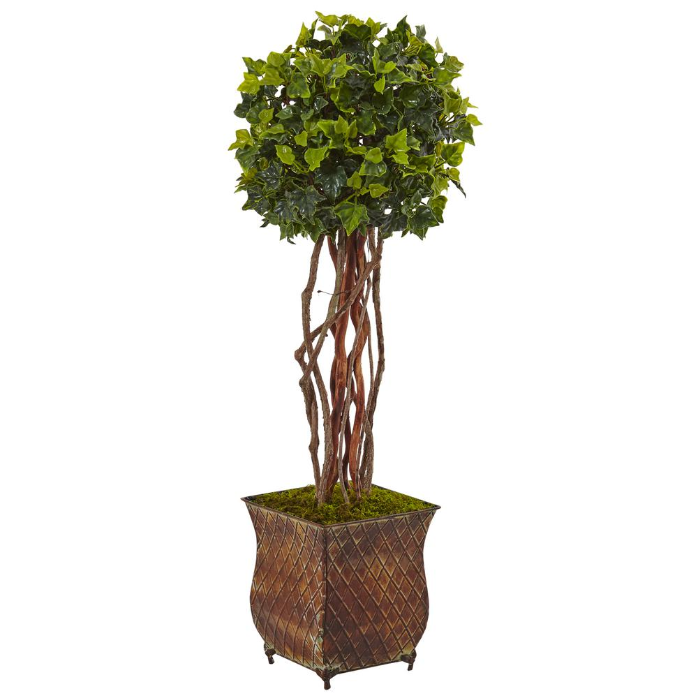Nearly Natural Indoor Outdoor English Ivy Artificial Tree In Planter Uv Resistant 5838 The