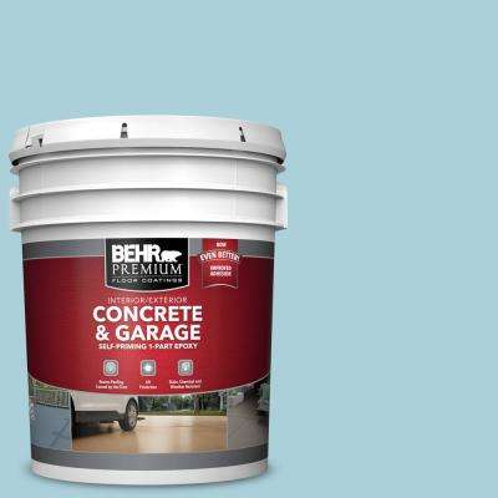 5 gal. #PFC-56 Pools of Blue 1-Part Epoxy Satin Interior/Exterior Concrete and Garage Floor Paint