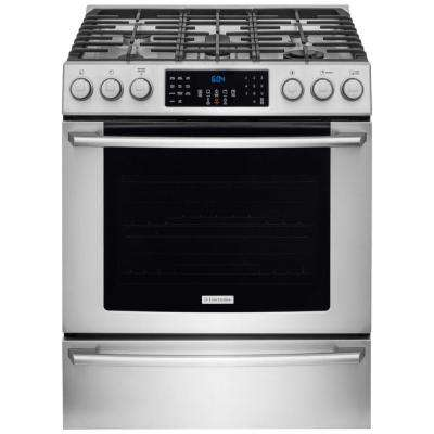 IQ Touch 4.5 cu. ft. Gas Range with Front Controls, Self-Cleaning Convection Oven in Stainless Steel