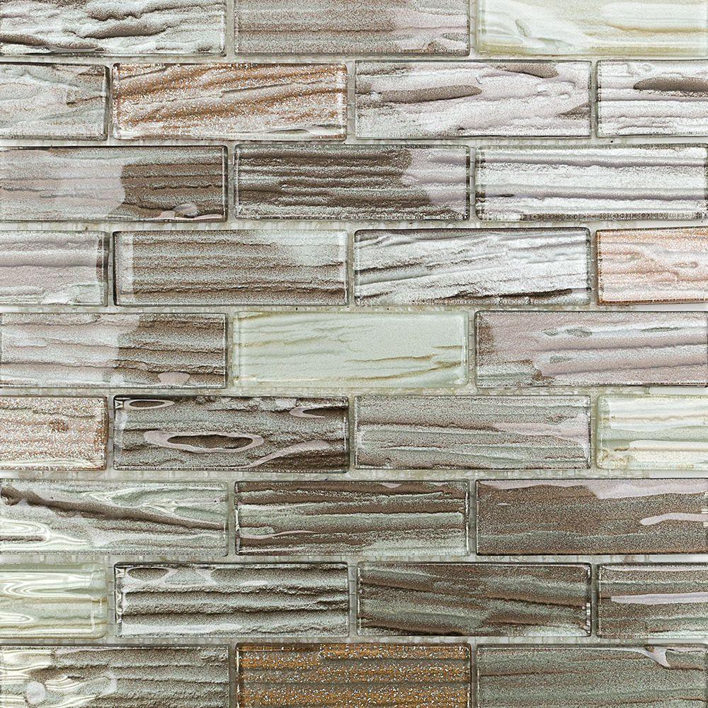 Splashback Tile Gemini Jupiter Polished Glass Mosaic Wall