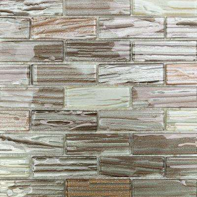 Gemini Jupiter Polished Glass Mosaic Wall Tile - 3 in. x 6 in. Tile Sample