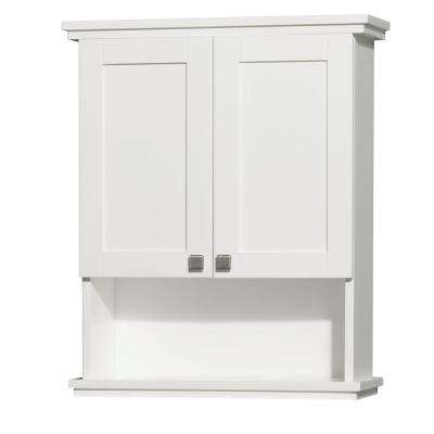 Acclaim 25 In W X 30 In H X 9 1 8 In D Bathroom Storage Wall Cabinet In White