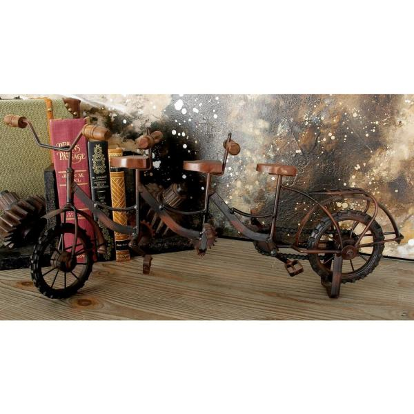 Litton Lane 20 in. x 9 in. Brown and Black Iron