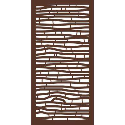 4 ft. x 2 ft. Espresso Brown Modinex Decorative Composite Fence Panel in Bamboo Design