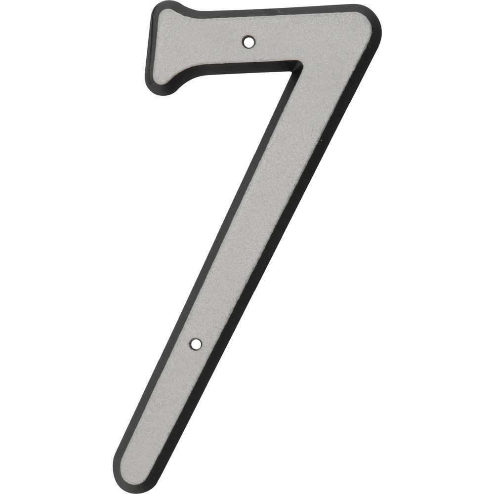 4 in. Nail-On Plastic Reflective Number 7