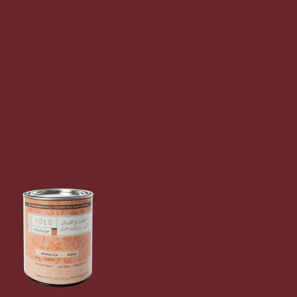 YOLO Colorhouse 1-Qt. Wood .04 Flat Interior Paint-DISCONTINUED