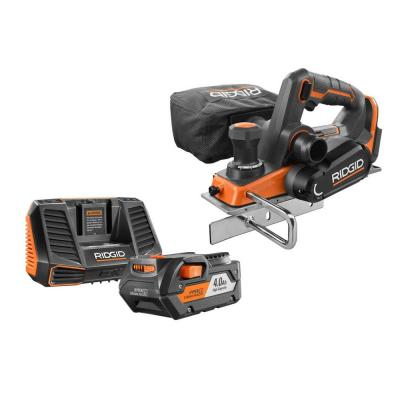 18-Volt OCTANE Cordless Brushless 3-1/4 in. Hand Planer with 18-Volt Lithium-Ion 4.0 Ah Battery and Charger Kit