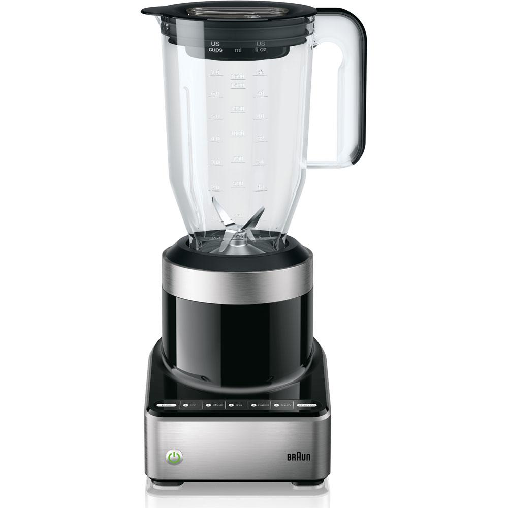 Braun PureMix 5-Speed Stainless Steel and Black Blender