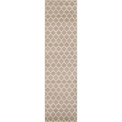 Trellis Philadelphia Light Brown/Beige 2' 7 x 10' 0 Runner Rug