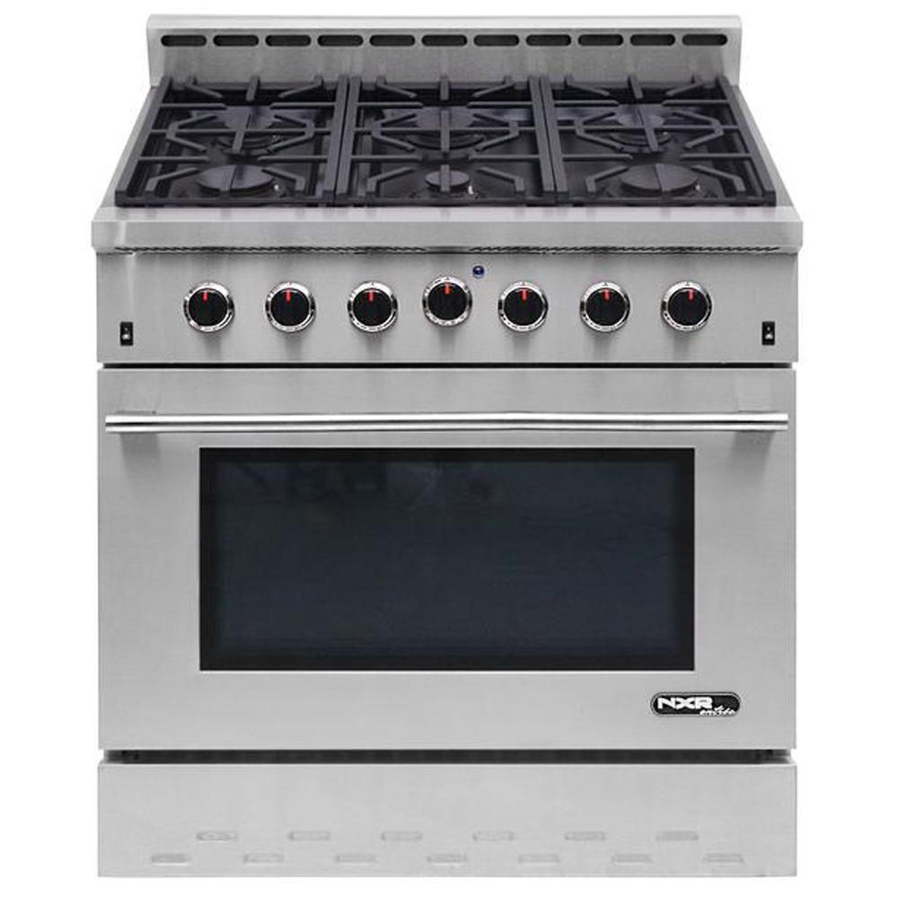 NXR Entree 36 in. 5.5 cu. ft. Professional Style Gas Range with ...