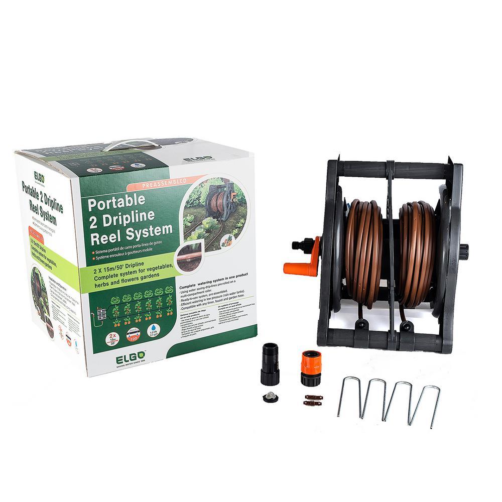 Portable 2 Dripline Reel System