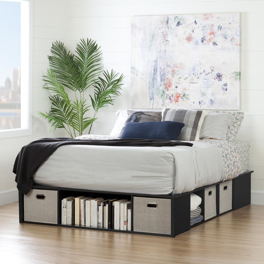 South Shore Queen Size Storage Platform Bed