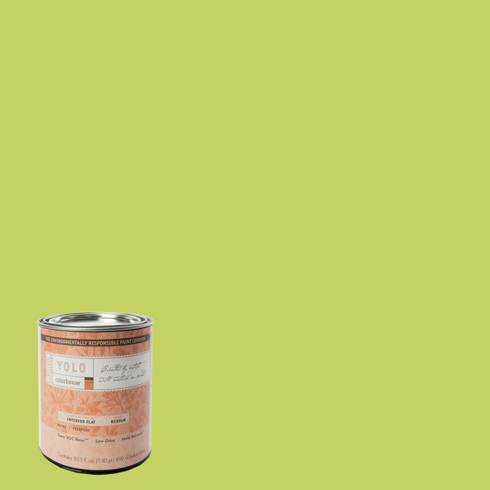 YOLO Colorhouse 1-Qt. Petal .02 Flat Interior Paint-DISCONTINUED