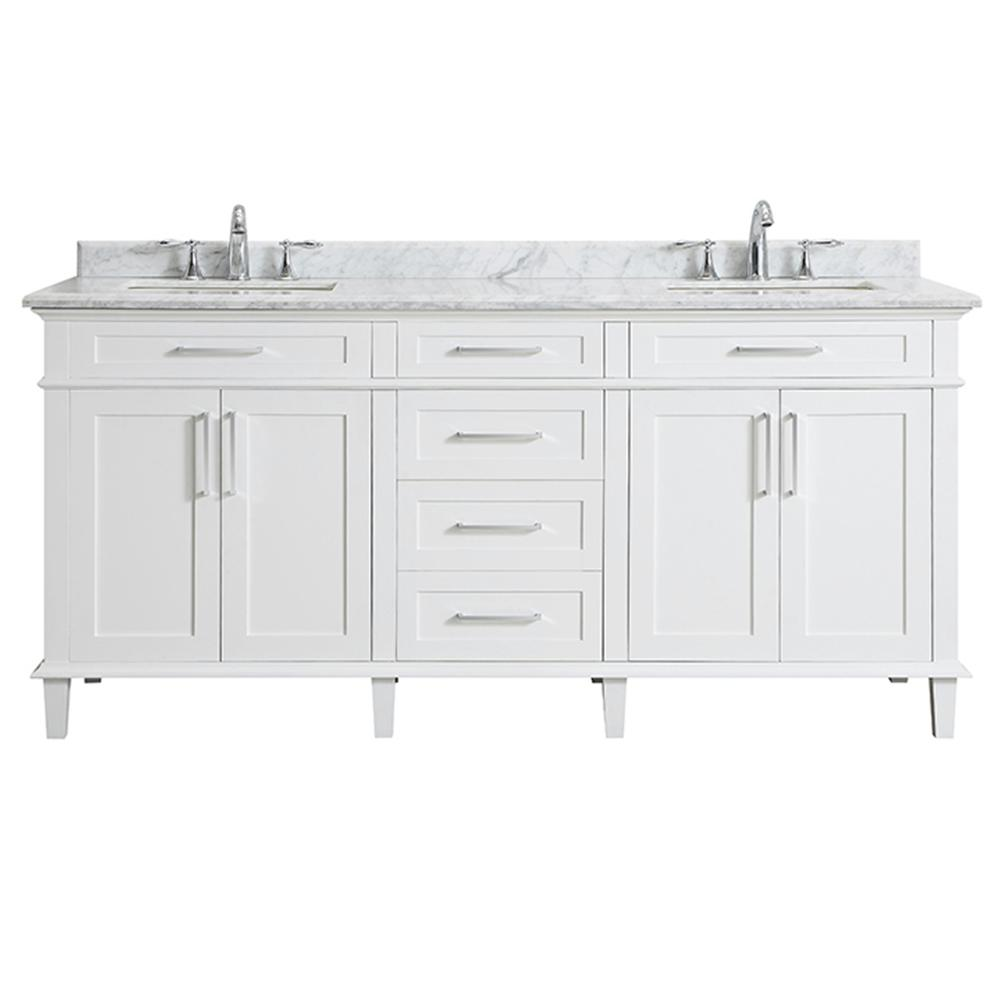 Home Depot Sonoma Vanity: Home Decorators Collection Sonoma 72 In. W X 22 In. D Bath