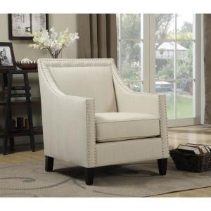 Fabulous Bridgehampton Natural Accent Chair With Nailhead Trim Onthecornerstone Fun Painted Chair Ideas Images Onthecornerstoneorg