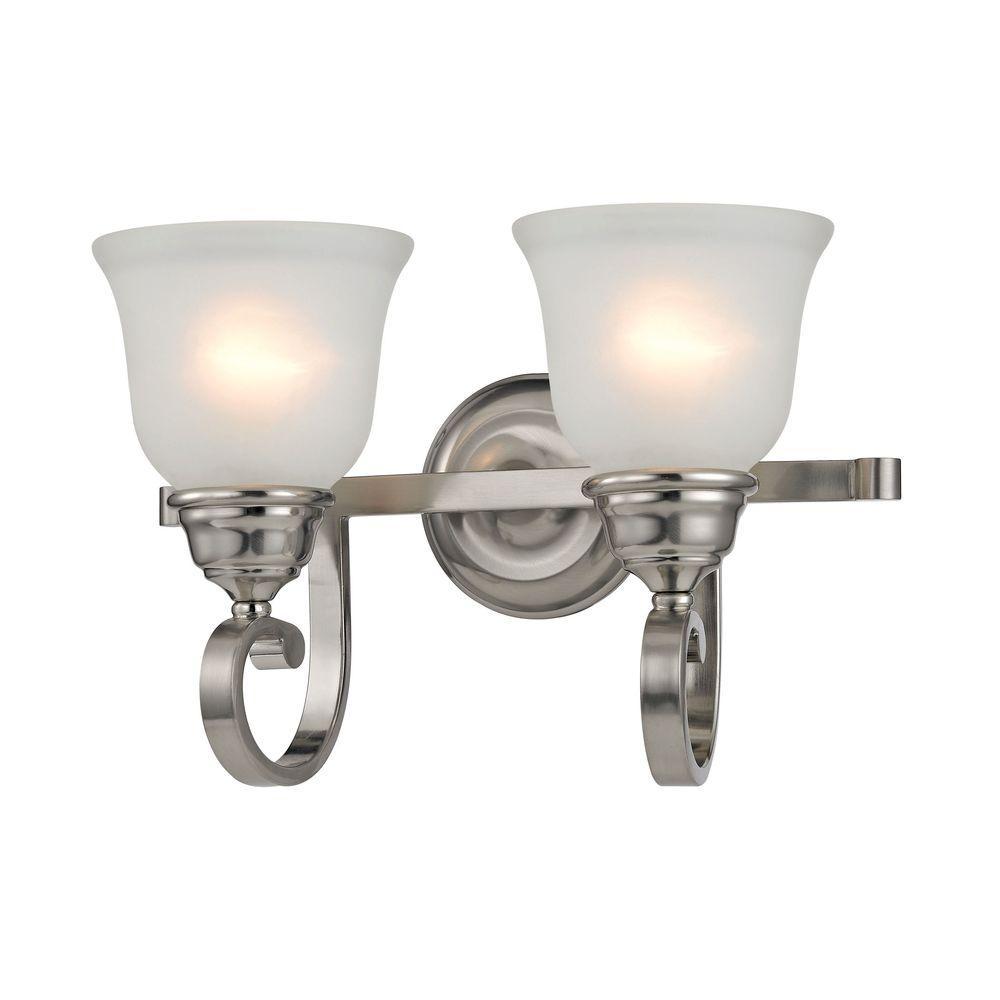 Hamilton 2-Light Brushed Nickel Bath Bar Light