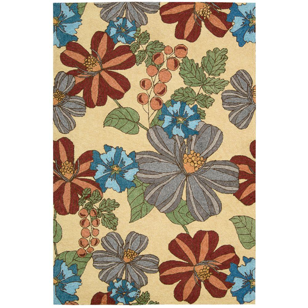 Indoor Outdoor Rugs Home Depot: Nourison Overstock South Beach Sand 10 Ft. X 13 Ft. Indoor