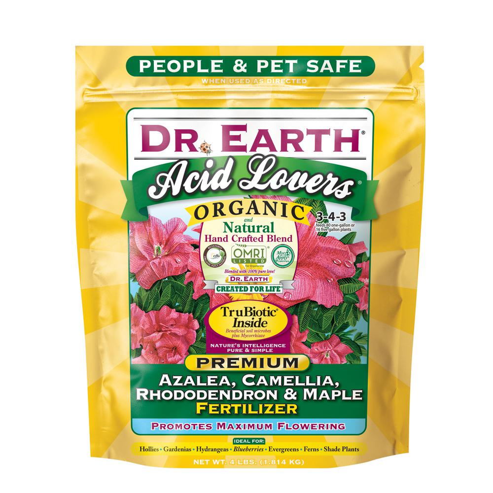 4 lb. Acid Lovers Azalea, Camellia, Rhododendron and Maple Fertilizer Dry