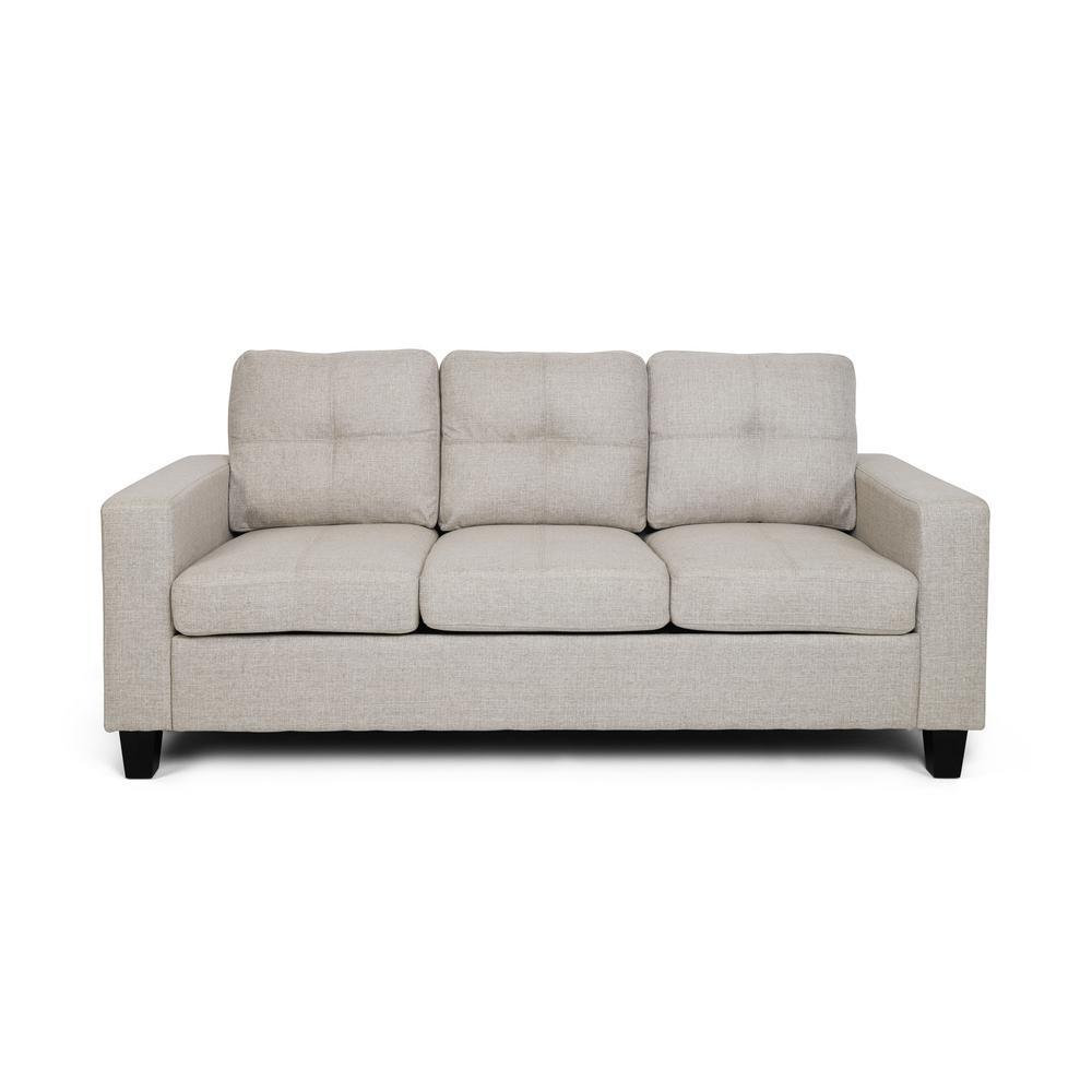 Bowden 3-Seat Beige Fabric Sofa