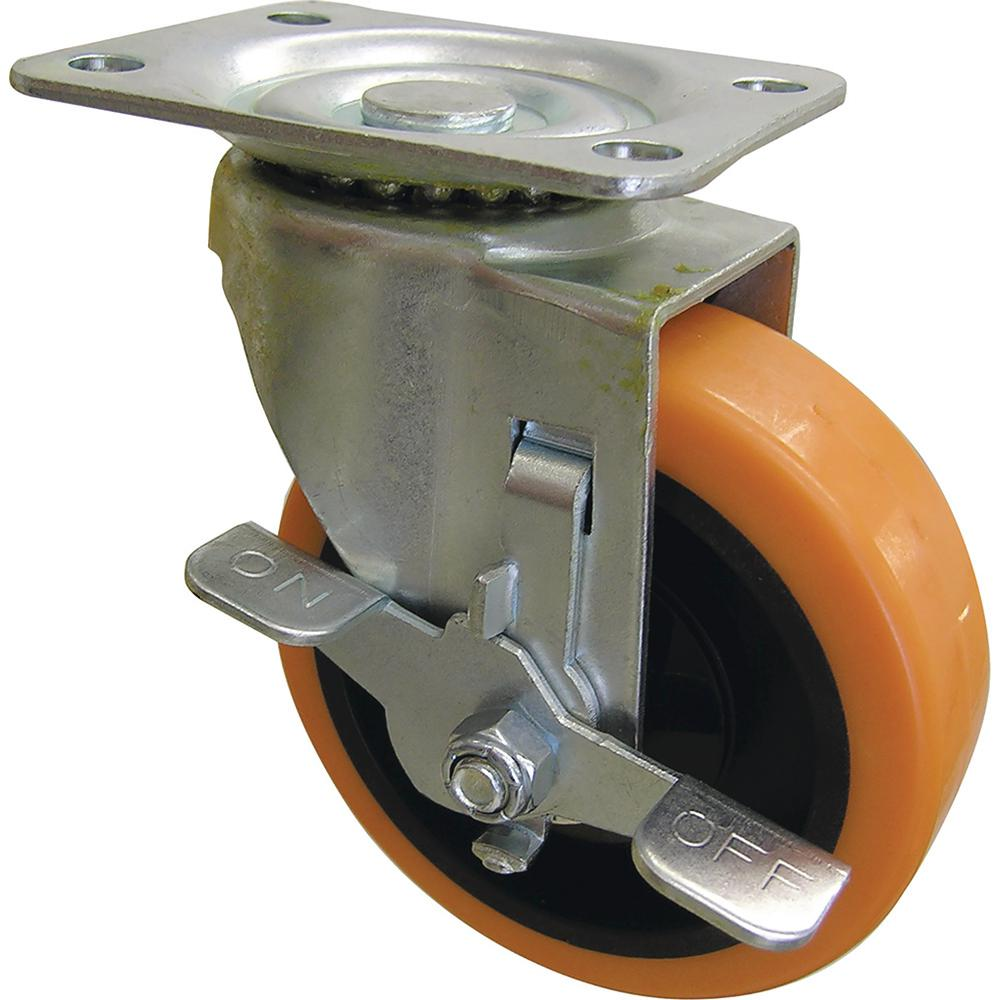 4 in. Orange TPU Swivel Caster with 300 lb. Load Rating