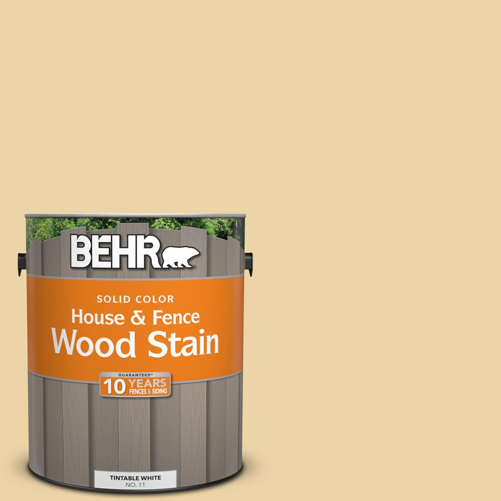 BEHR 1 gal. #SC-133 Yellow Cream Solid Color House and Fence Wood Stain