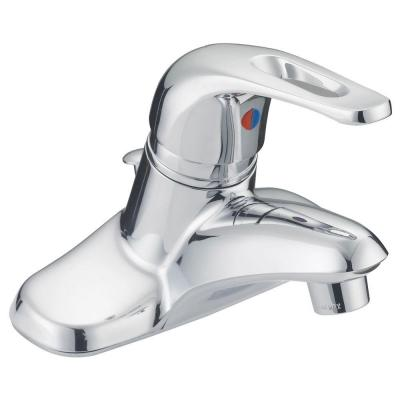Prestige Collection 4 in. Centerset 1-Handle Bathroom Faucet in Chrome with Brass Pop-Up