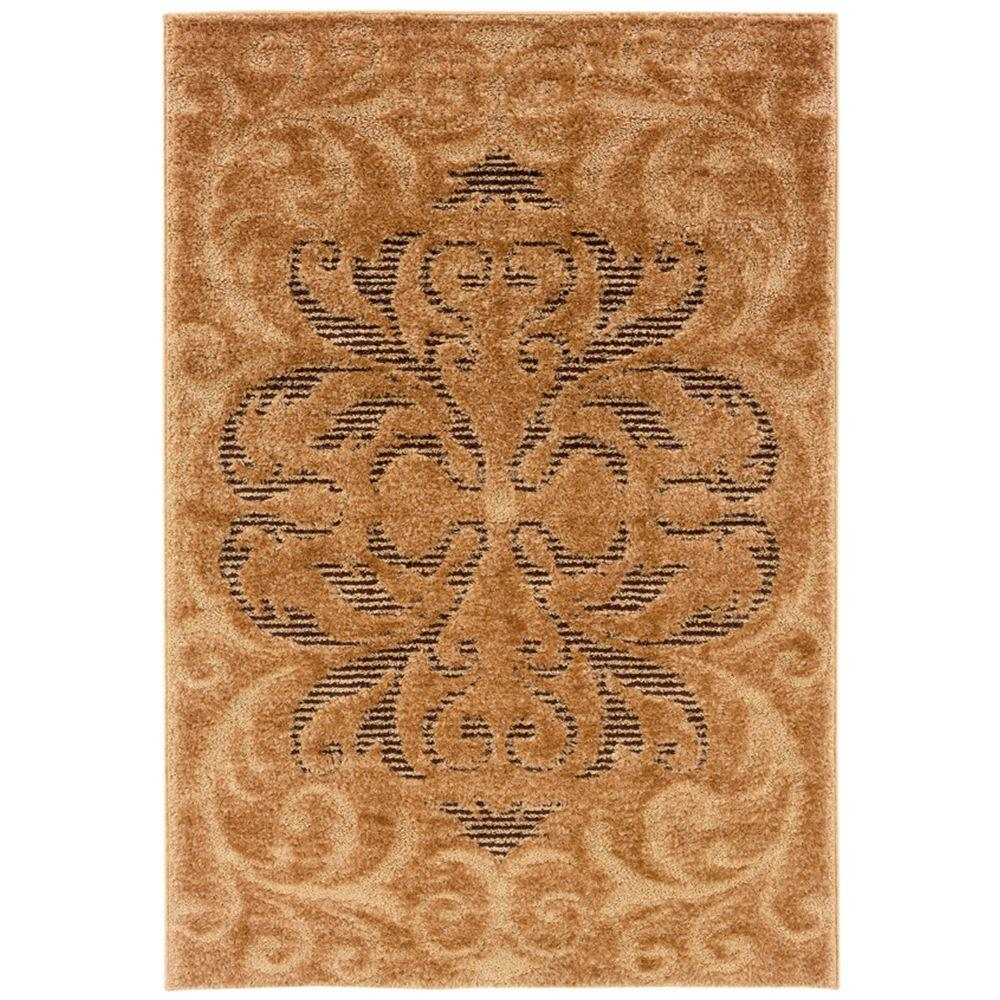 United Weavers Radiance Wheat 5 ft. 3 in. x 7 ft. 6 in. Area Rug