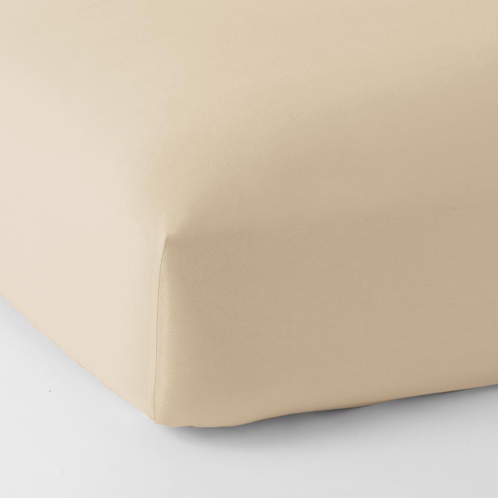 Legacy Velvet Flannel Alabaster Solid Deep Pocket Queen Fitted Sheet