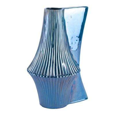 Blue Liso Large Decorative Vase
