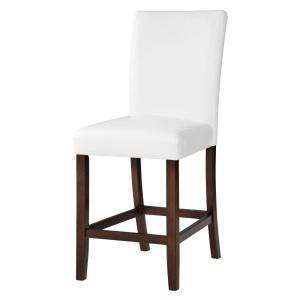 +3. Crawford u0026 Burke Berkley 24 in. White Faux Leather Bar Stool ...  sc 1 st  The Home Depot & Crawford u0026 Burke Berkley 24 in. White Faux Leather Bar Stool (Set ... islam-shia.org