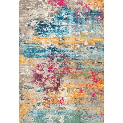 Modern Monet Multi 10 ft. x 14 ft. Area Rug