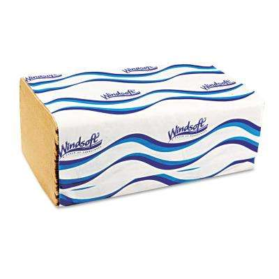 Natural Embossed Singlefold Towel (250/Pack, 16-Packs/Carton)