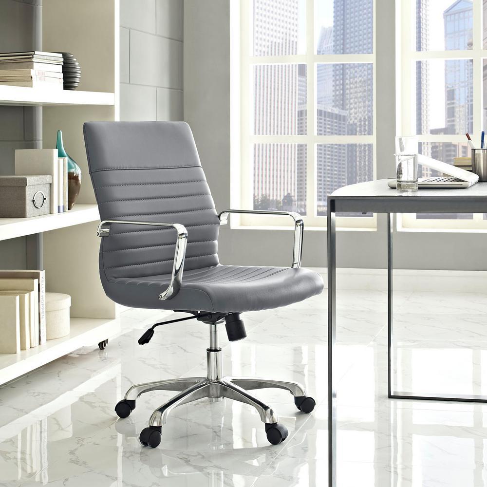 MODWAY Finesse Mid Back Memory Foam Office Chair in Gray EEI-1534-GRY
