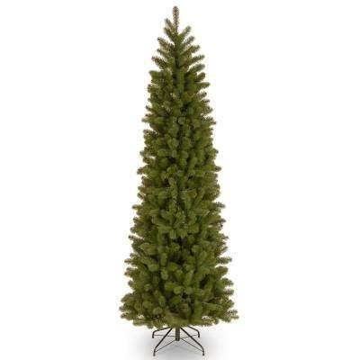 feel real downswept douglas pre lit slim artificial christmas tree - Skinny Christmas Tree Decorating Ideas