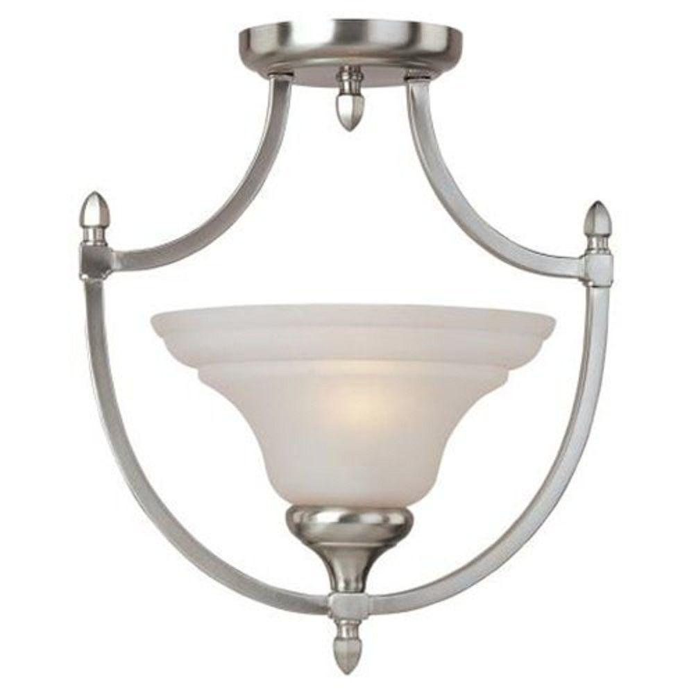 Illumine 1-Light Semi-Flush Mount Wilshire Glass Oil Rubbed Bronze Finish-DISCONTINUED