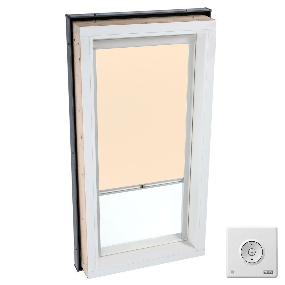 VELUX Beige Solar Powered Light Filtering Skylight Blind for FCM/QPF/VCM/VCE/VCS 4646 Models