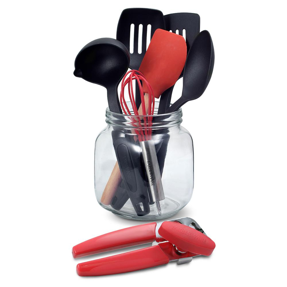 8-Piece Kitchen Tool and Crock Set