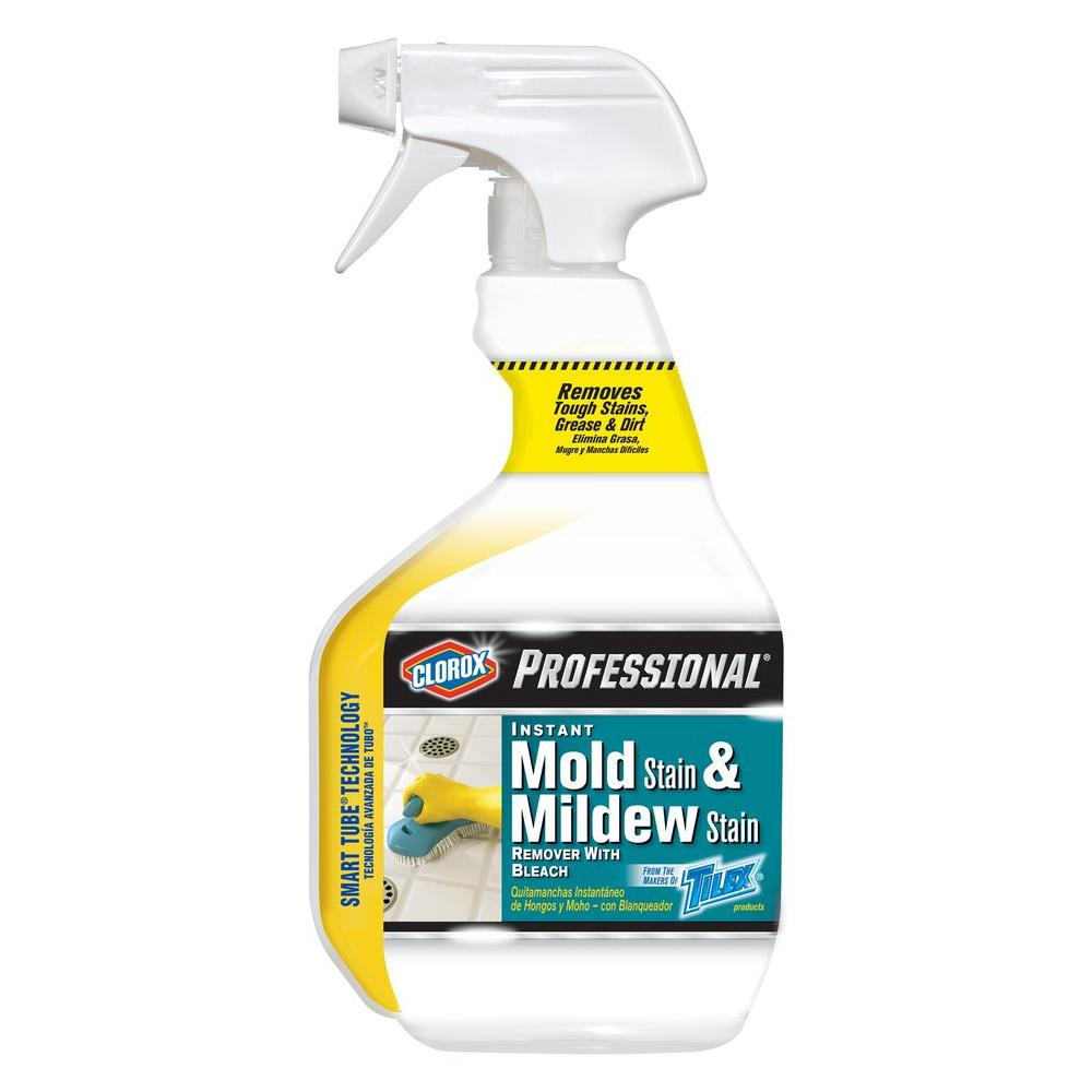 Professional Instant Mold Stain And Mildew Remover With Bleach Spray