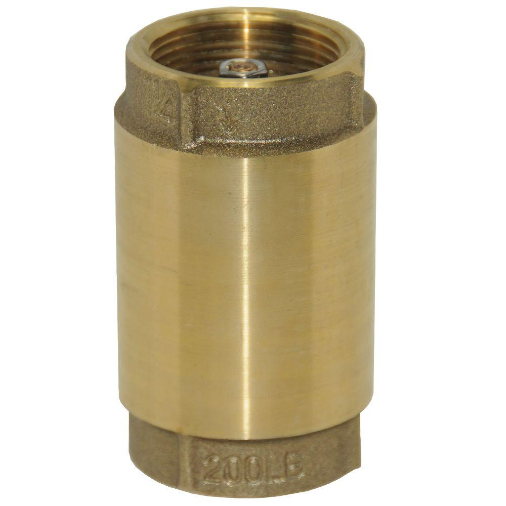 null 1-1/4 in. Brass Check Valve No Lead