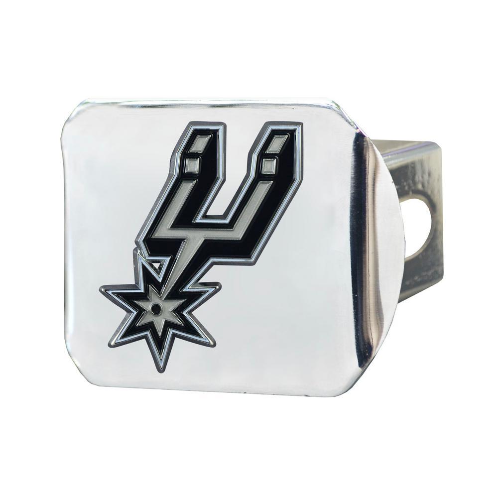 NBA San Antonio Spurs Color Emblem on Chrome Hitch Cover