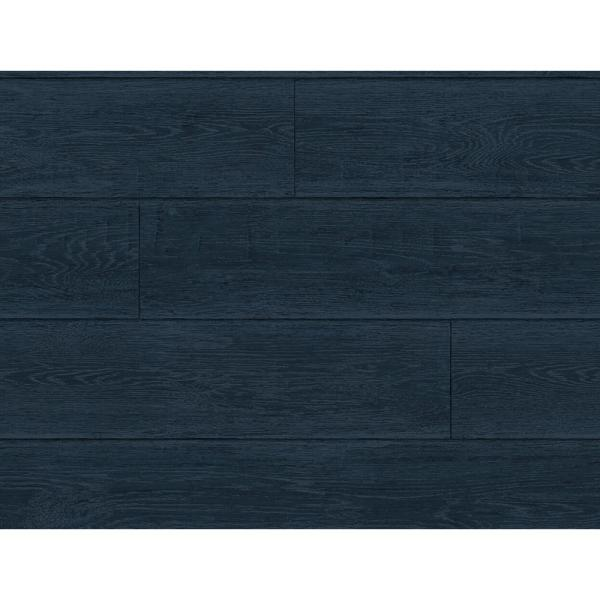 Luxe Haven Denim Blue Rustic Shiplap Peel and Stick Wallpaper (Covers 40.5 sq. ft.)