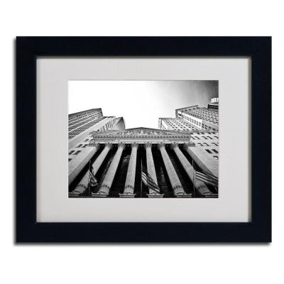 11 in. x 14 in. The New York Stock Exchange Matted Framed Art