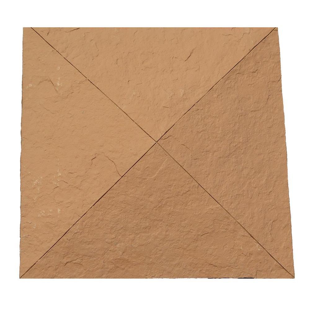 Slatestone 10-1/2 in. x 10-1/2 in. x 3-1/2 in. Red Faux Polyurethane Stone Post Cover Cap