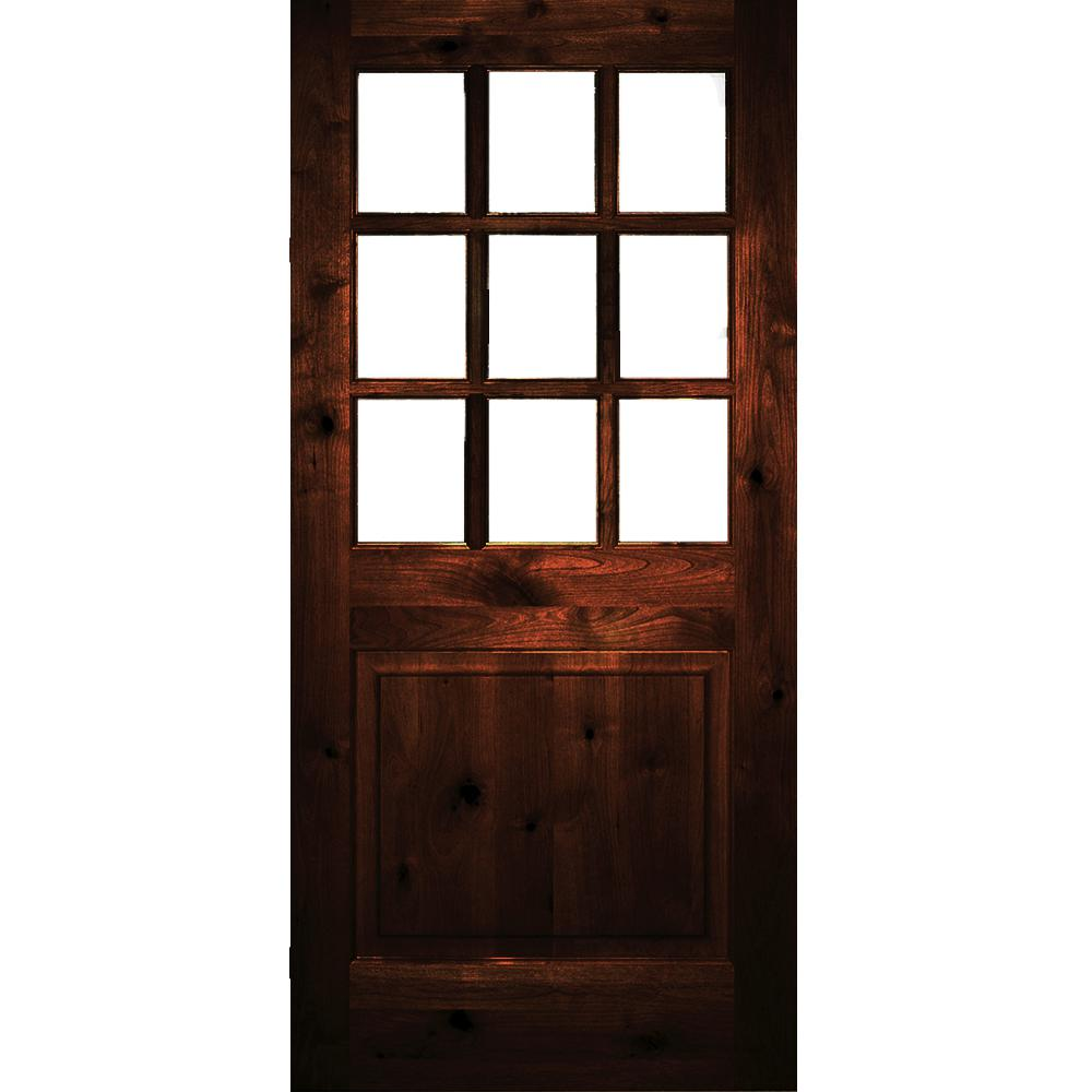 Krosswood Doors 30 In X 80 In Rustic Knotty Alder 2: Krosswood Doors 36 In. X 80 In. Rustic Knotty Alder Clear