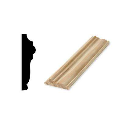 WM 1218 5/8 in. x 2-1/2 in. x 96 in. Solid Pine Chair Rail Moulding